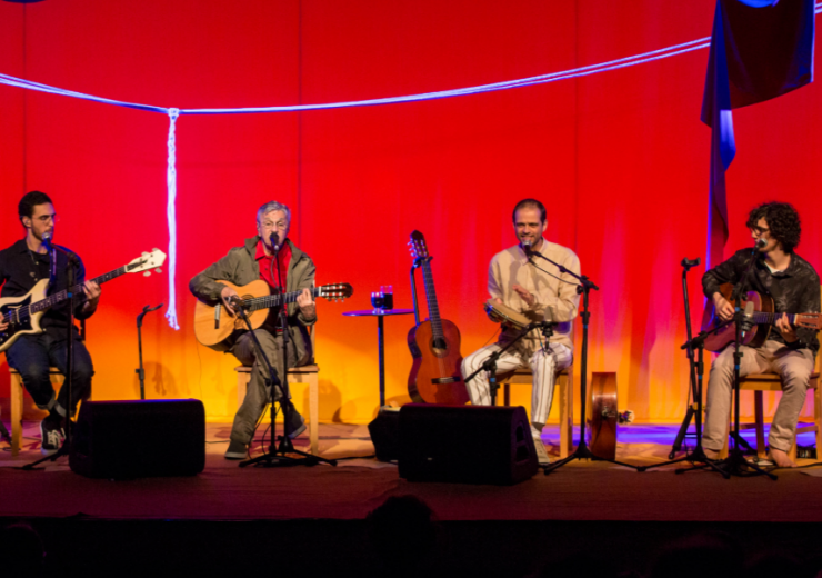 Brazilian legend Caetano Veloso performs with his sons