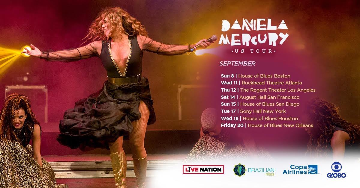Daniela Mercury – US Tour 2019